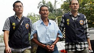 船长龚泰安涉杀死15名大陆籍渔工,被押解回台