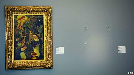 Cuadro robado en el museo Kunsthal de Rotterdam