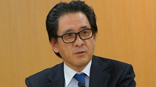 日本贸易振兴机构理事长石毛博行网记者等座谈中日经贸关系