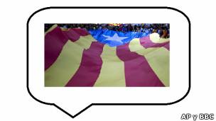 Globo de conversación y bandera de Cataluña