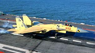 J-15 hạ cánh trên Liêu Ninh