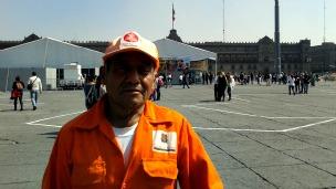 Empleado del servicio de limpieza en Ciudad de México