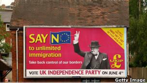 Campanha do UKIP em 2009 (Getty Image)