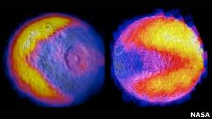 Las lunas de Saturno juegan al Pacman