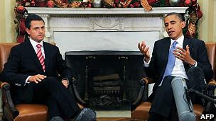 Obama com o presidente do México, Peña Nieto, em foto de arquivo (Reuters)