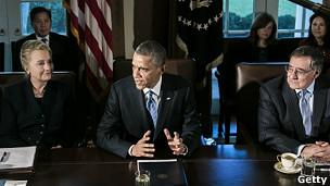 Barack Obama y su gabinete