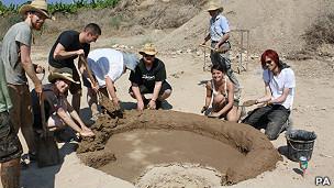 Grupo de arqueólogos de la Universidad de Manchester