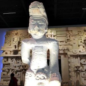 Escultura maia, museu de Mérida