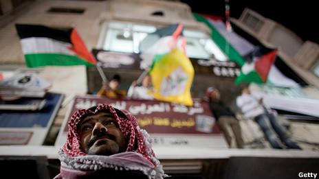 Celebraciones palestinas en Cisjordania