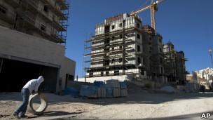 Construcción israelí en el vecindario de Har Homa, en Jerusalén