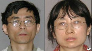 La ingeniera Shanshan Du (derecha) y su esposo