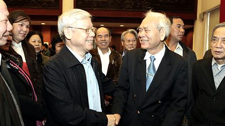 Ông Trọng tại buổi tiếp xúc cử tri Hà Nội