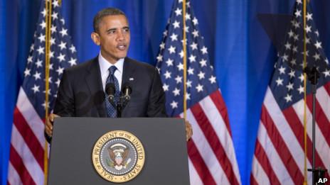 奥巴马在位于麦克纳尔堡的国防大学就核不扩散话题发表讲演(03/12/2012)