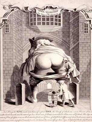 Caricatura de Robert Walpole