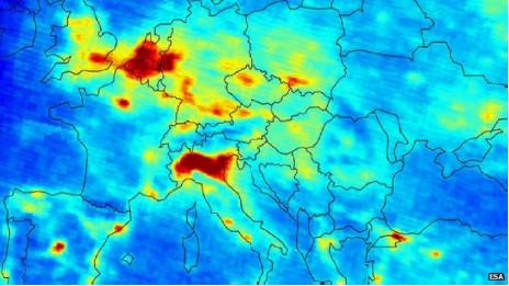 Mapa óxidos de nitrógeno