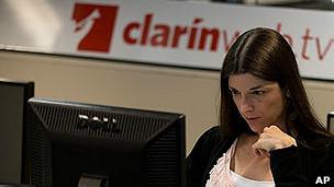 Empleada de Clarín