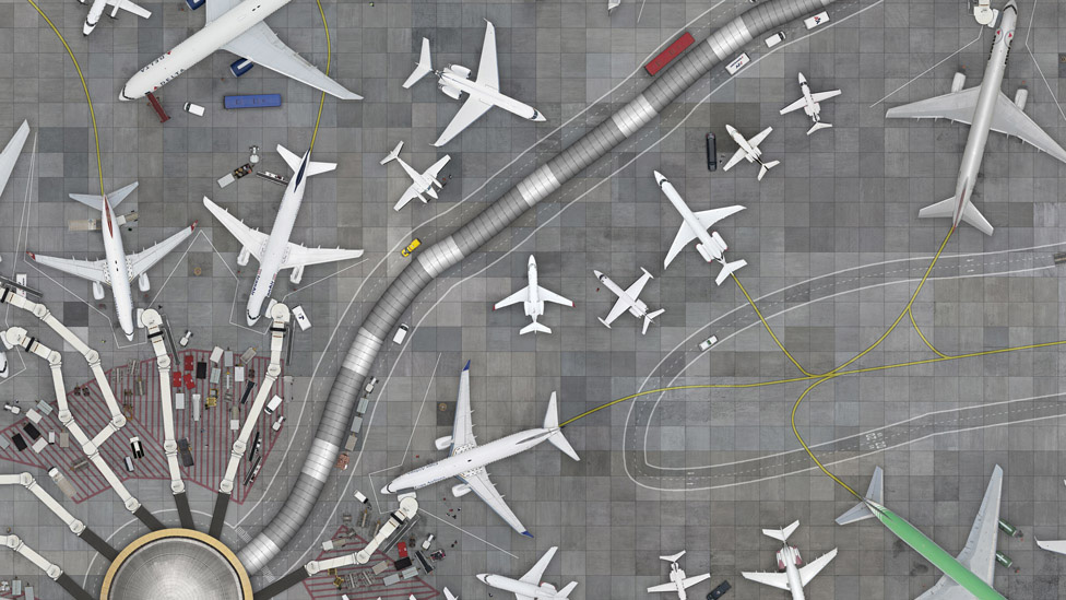 تبدو مطارات وشواطئ المستقبل؟