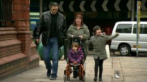 Rosie Davies com a família