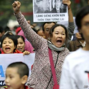 Biểu tình tại Hà Nội 9/12/2012