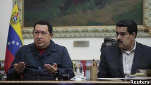 Chávez e Maduro