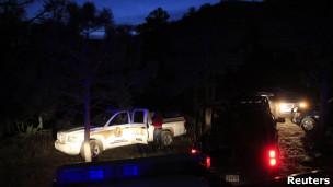 La policía llega al lugar del accidente