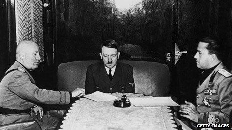 Mussolini y Hitler