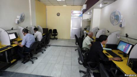 مقهى إلكتروني في بغداد