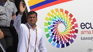Presidente de Ecuador, Rafael Correa, en Cuba