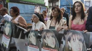 Susana Trimarco reclama por su hija Marita.