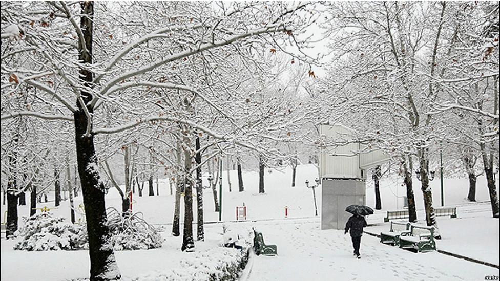 عکس تهران برفی