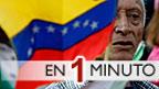 Hombre con una bandera venezolana
