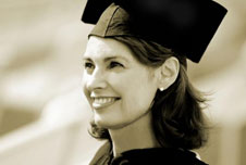 A young woman at her graduation