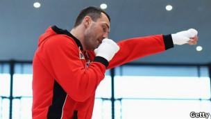 Boxeador en entrenamiento