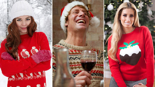 Suéteres navideños. Archivo