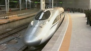 Tren superveloz inaugurado en China