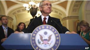 美国参议院民主党领袖里德