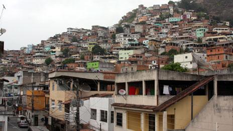 Favelas en Brasil.