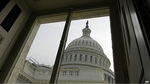 Vista del domo del capitolio de Washington, EEUU