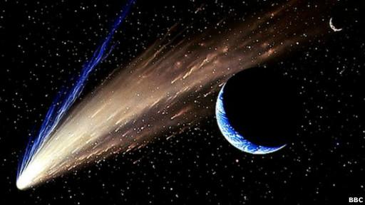 Ilustración de un cometa