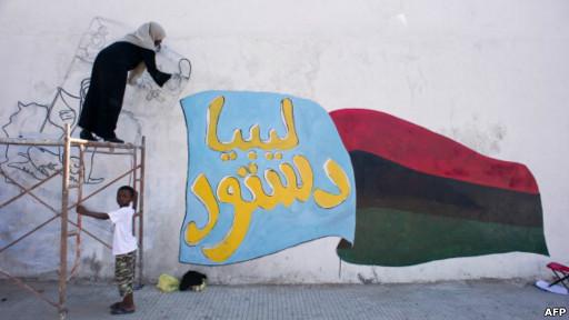 Mural en Libia