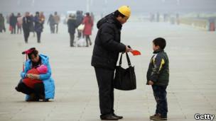 Familia china en Pekín