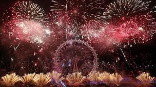 احتفالات العام الجديد في لندن