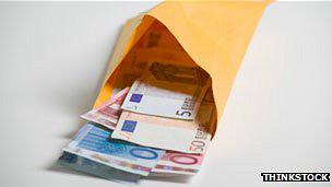 Sobre con euros