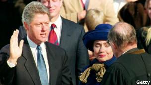 Bill Clinton presta juramento como presidente de EE.UU.