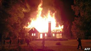 Incendio en Araucanía