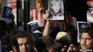 Mapuches protestan