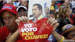 Protesto pró-Chávez (Foto Reuters)