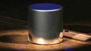 Cilindro de platina e irídio usado como padrão (foto: Greg L/wikimedia Commons)
