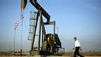 Obama en pozo petrolero