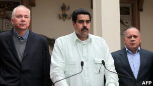 Ramírez, Maduro y Cabello